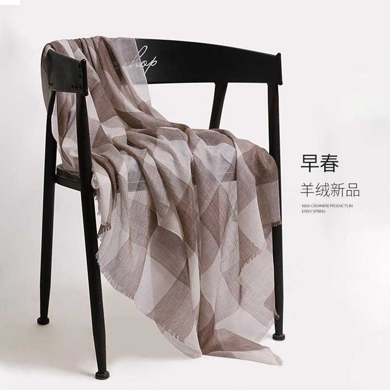 围巾女格子薄款