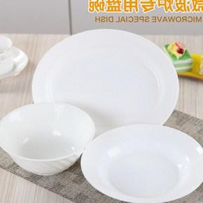 家用大号微波炉专用碗盘碟加热小号圆碗耐高温用具餐具塑料可爱