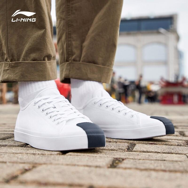 李宁男鞋帆布鞋板鞋休闲鞋运动鞋2019新品男士运动休闲鞋AGCP155