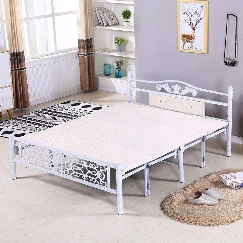 简易折叠床家用单人床 办公室午休床木板床加固双人床铁艺床包邮