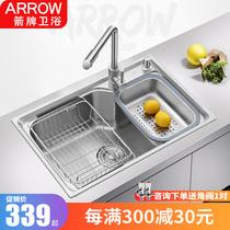 不銹鋼洗菜盆洗碗池龍頭套餐304九牧廚房水槽單槽套裝JOMOO