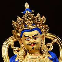 Seiko Huang Cai Shen Zan Bara Buddhist supplies Pure copper Quanjin statues of God Tantric worship ornaments 5 inches