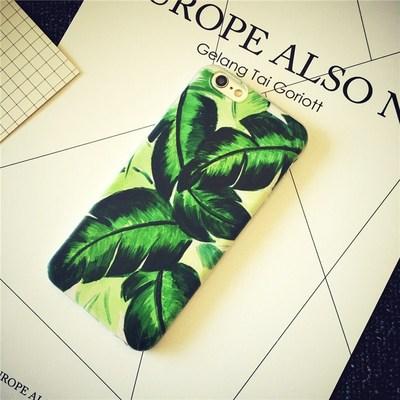 夏日绿色芭蕉 苹果5S/6Plus情侣4S手机壳iPhone6s彩绘软壳保护套