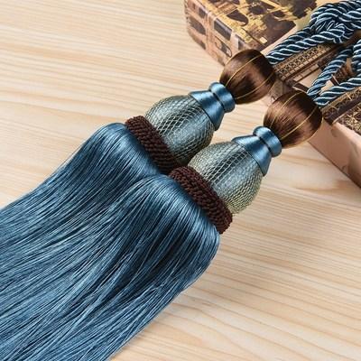 一对韩式网球挂球吊球装饰窗帘系带固定欧式绑带挂绳家用扎带客厅