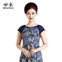 中国风中老年人妈妈秋装毛呢外套中年女装冬装唐装奶奶短款上衣服