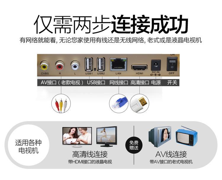 智能网络电视机顶盒子高清播放器WIFI8核家用安卓无线32G