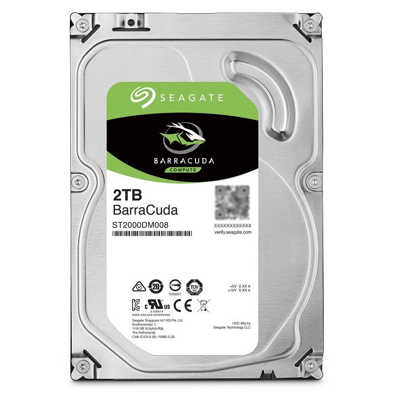 【领卷再减】Seagate/希捷 ST2000DM008 酷鱼2T台式电脑机械硬盘2tdm006升级
