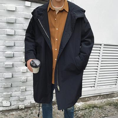 男士风衣青年韩版学生日系潮流宽松港风bf外套男嘻哈oversize大衣
