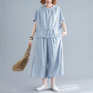 特大码早秋款女装240斤套装遮肚子时髦韩版洋气减龄220胖妹妹显瘦