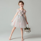 Girls birthday princess dress fluffy little girl flower girl dress wedding dress children host costume evening dress