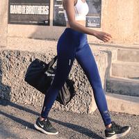 幂美人夏季高腰速干瑜伽裤女运动弹力紧身长裤跑步舒适薄款健身裤