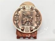 18年新款2018狗年铜章金犬献福双面浮雕一轮生肖邮票精致礼盒礼品