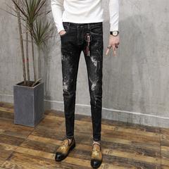 男士漆牛仔裤