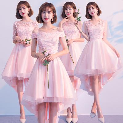 粉色礼服短款