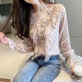 长袖 韩版 衬衫 秋装 早秋雪纺上衣女装 2019年新款 潮洋气超仙气质时尚图片