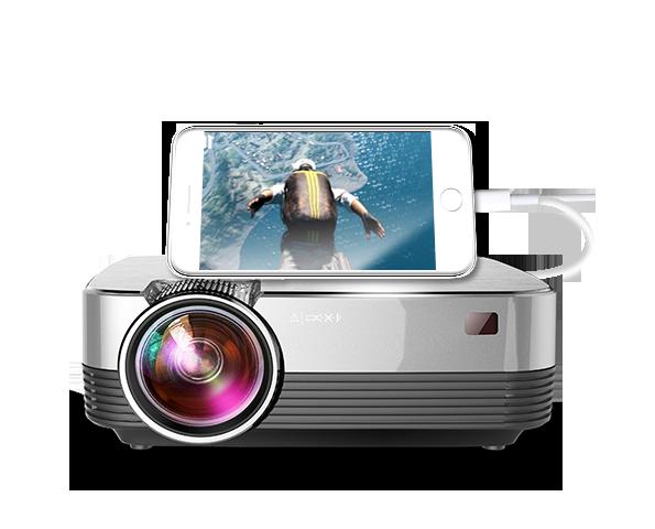 光米T5微型家用手机投影仪办公高清智能无线wifi便携式小型投影机
