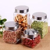 用包装 密封储存罐防漏奶粉罐厨房 盒酱菜瓶耐高温小号虫草玻璃罐子