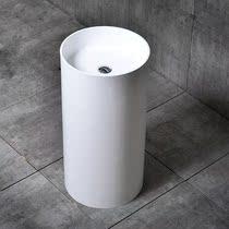 卡伦娜莎人造石立柱盆方形黑色落地洗手盆一体成型家用式洗脸台盆