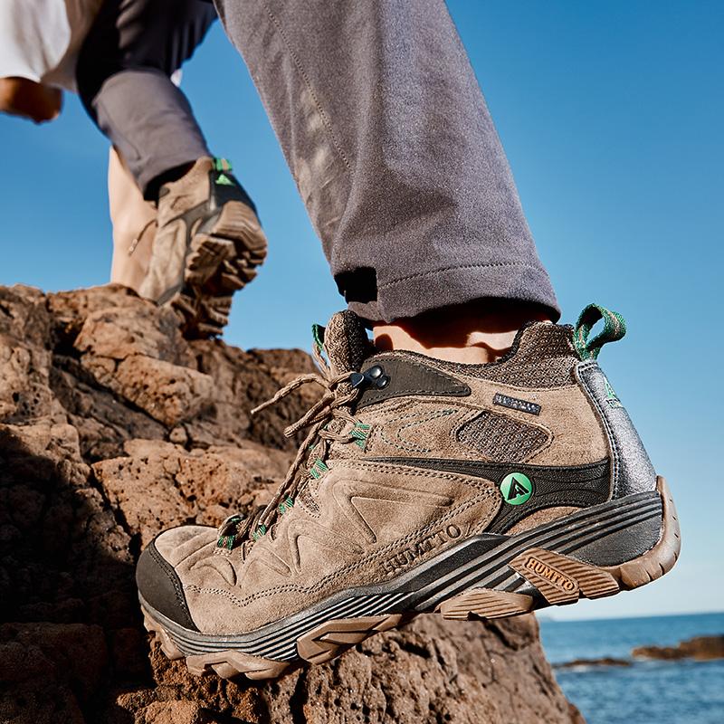 美国悍途高帮登山鞋男冬季户外徒步鞋防滑耐磨真皮运动鞋加绒保暖