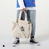 加厚不起球 可分类插袋中型帆布包单肩斜跨手提包托特包挎包 BOTB