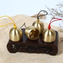 纯铜风铃及配件 带铃锤金属小铃铛 风铃DIY材料 圣诞铃铛 防盗铃