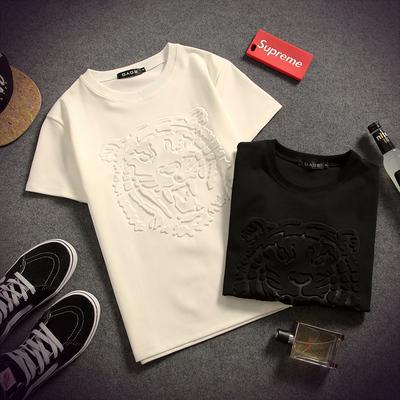 夏季日系太空棉大码短袖T恤男宽松3D韩版青少年圆领半袖印花上衣