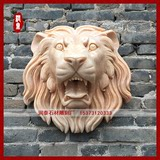 Sunset glow red water lion head wall pendant wall lion head fountain water spray animal head garden decoration