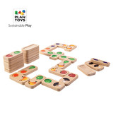 Imported PlanToys5639 fruit and vegetable domino wooden game children cognitive early education fruit puzzle toys