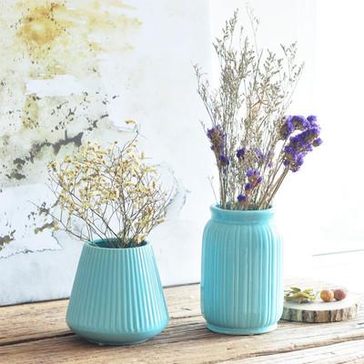 欧式陶瓷花瓶摆件简约花器美式家居客厅柜玄关桌软装饰品干花花插网店网址