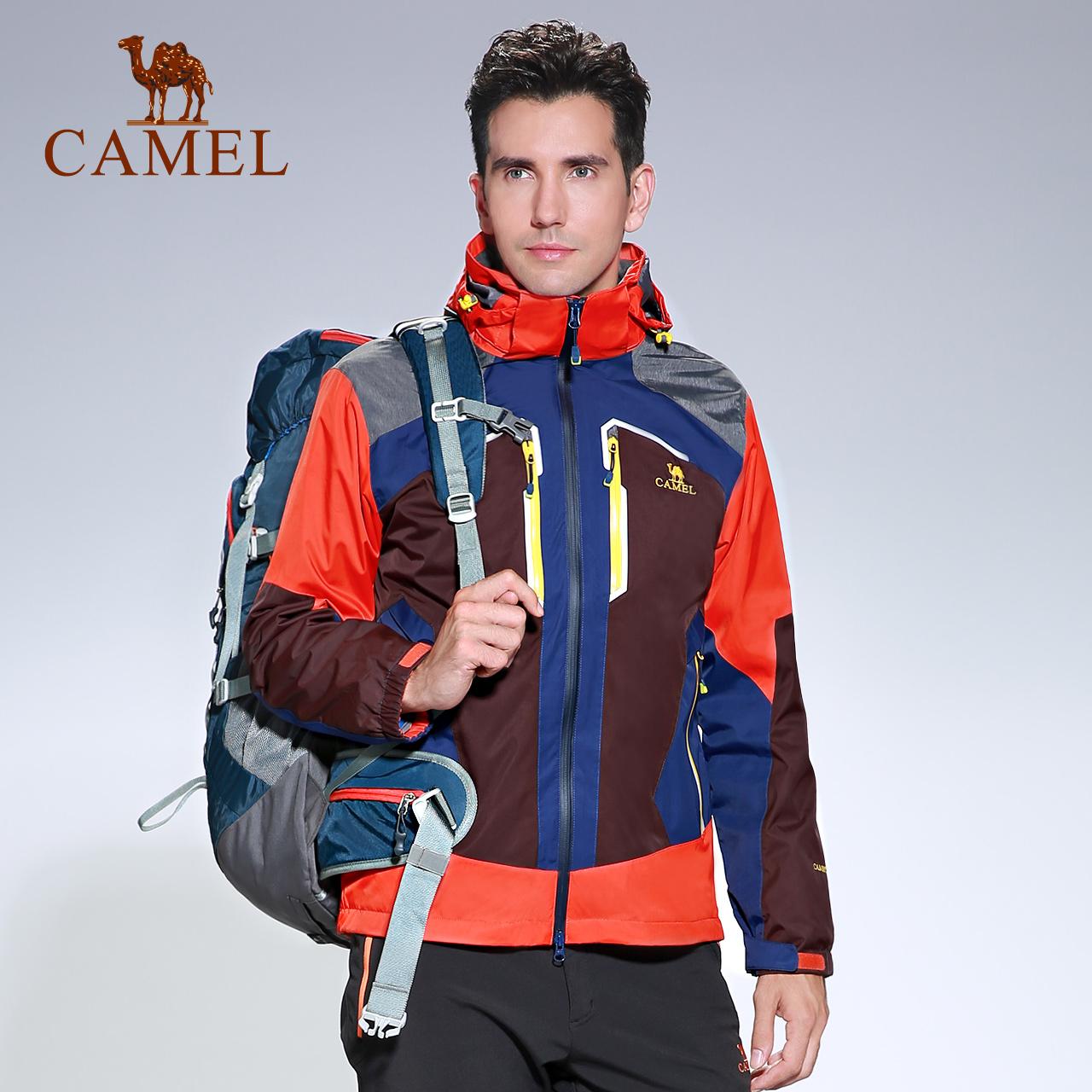骆驼户外秋冬冲锋衣男 三合一户外两件套防水防风男士登山服西藏