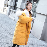 X2 cotton women's ins bread service 2018 new Dongdaemun over the knee cotton clothing oversize long down jacket