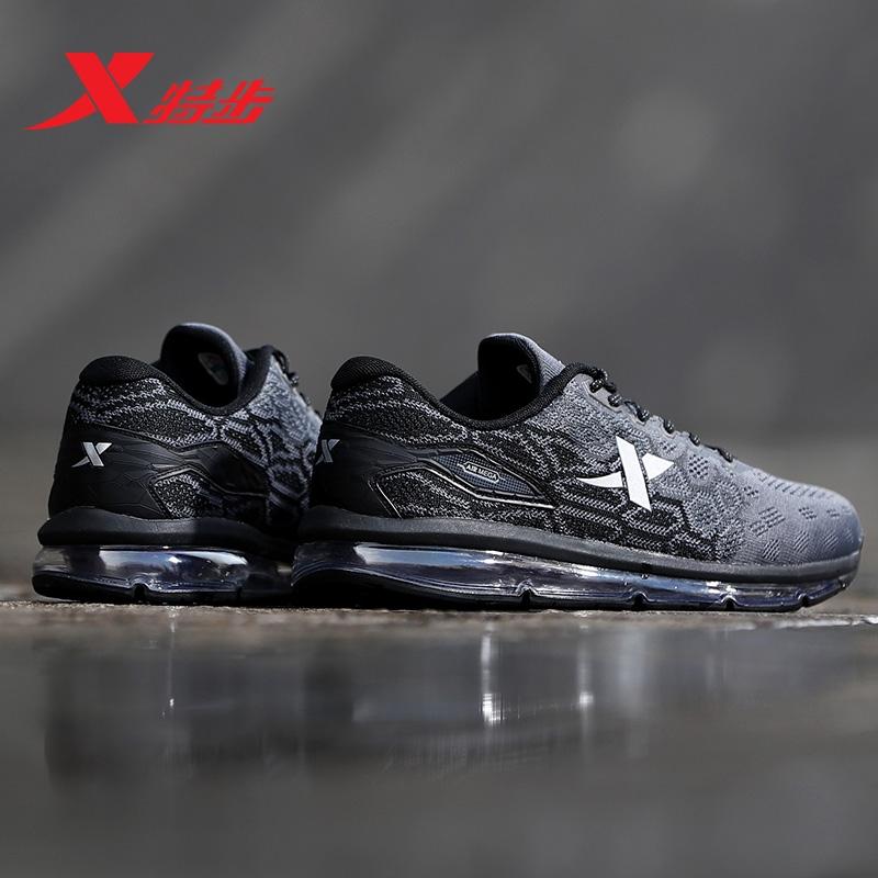 特步男鞋跑步鞋夏季新款减震耐磨飞织全掌气垫鞋运动鞋男子跑鞋