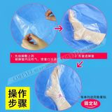 Disposable foot bag care foot mask foot treatment a plastic foam bag waterproof heel dry crack test shoes foot set impression