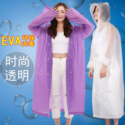 Thickened disposable raincoat for men and women Fashion hiking outdoor waterproof travel transparent full body poncho set