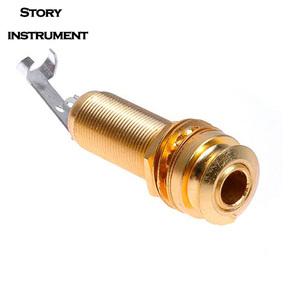吉他连接插孔分体式尾钉压弦钉固弦锥拾音器插座 乐器配件