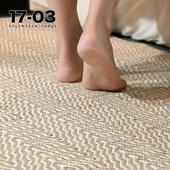 远山云间进口棉麻卧室地毯 印度原装床边房间家用简约可机洗满铺