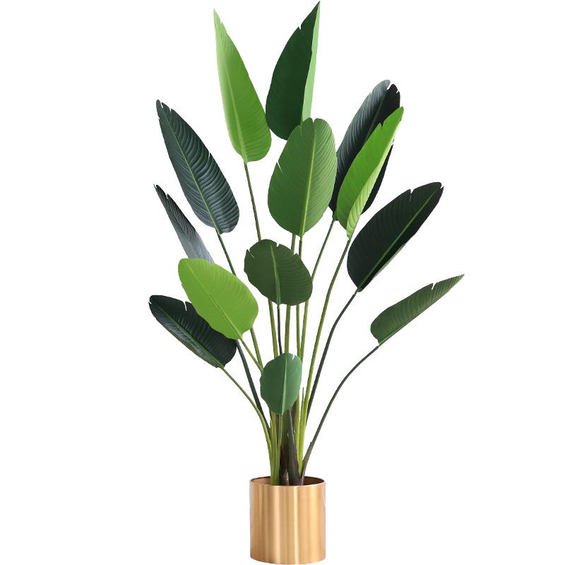北欧仿真植物网红绿植盆栽天堂鸟高仿真大型客厅落地旅人蕉植物