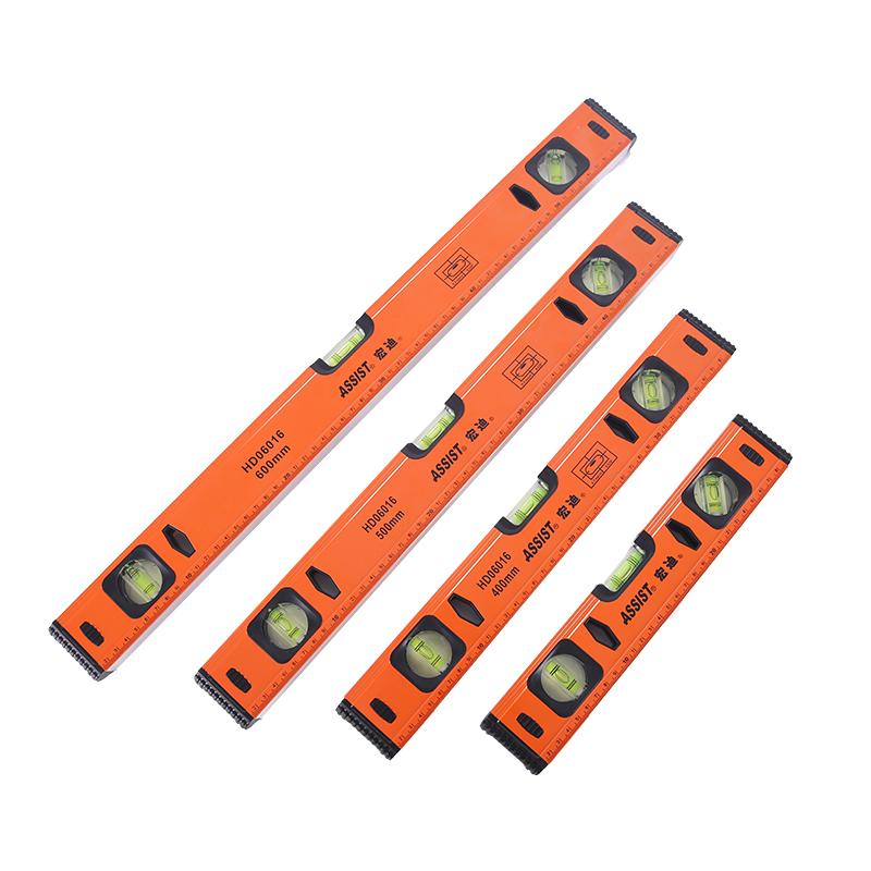 宏迪水平尺多功能高精度磁性家用防摔工业级装修靠尺迷你小铝合金