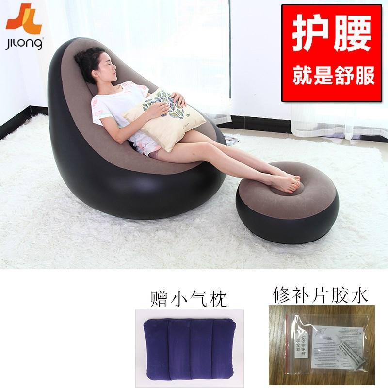 榻榻米午休懒人躺椅休闲豆袋单人椅子折叠空气卧室沙发充气沙发