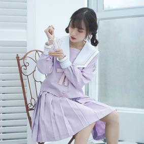 恋染家jk制服套装软妹原创日系独角兽异色襟线长袖学生制服水手服
