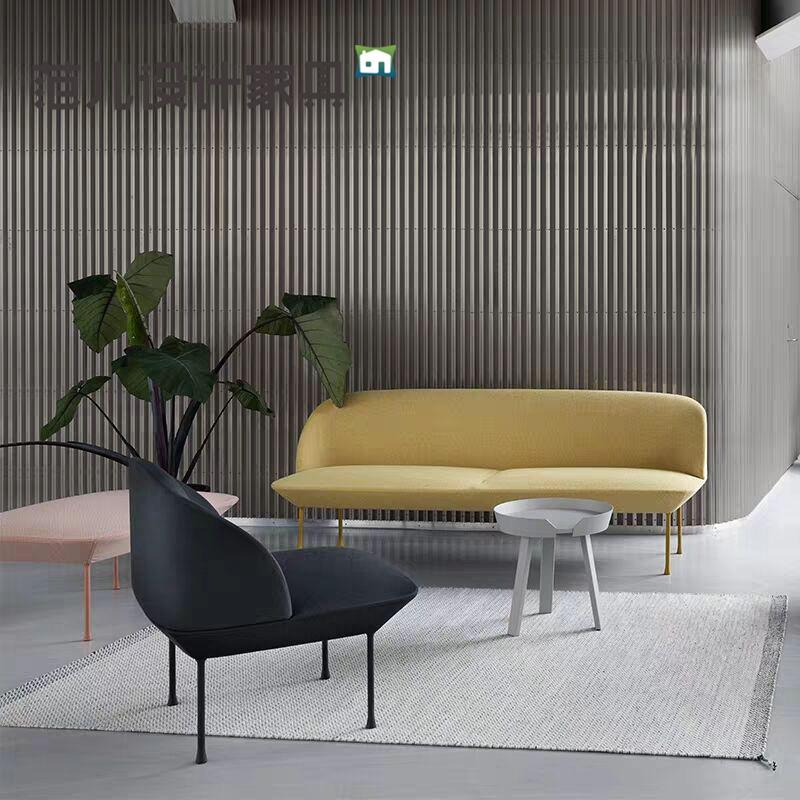 后现代北欧式沙发宜家樱桃沙发客厅简约时尚布艺双人沙发组合整套