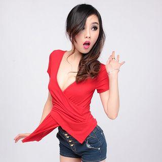 个性女装潮流性感时尚韩版显瘦气质网红上衣2019新款抖音潮流夏季