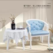 阳台桌椅小茶几实木欧式三件套组合卧室休闲椅子茶几小圆桌子