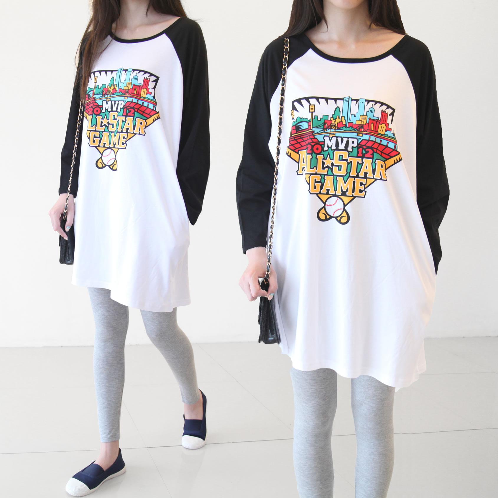 孕妇春装t恤春秋款春夏季新款韩版时尚中长款长短袖上衣宽松大码