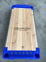 可配滚轮统铺通铺单人日本购板可拆可叠叠高床品牌幼儿园儿童塑料