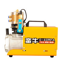 Barbarian pneumatic electric air compressor 30mpa high pressure water cooled single cylinder 40mpa pump inflatable pump