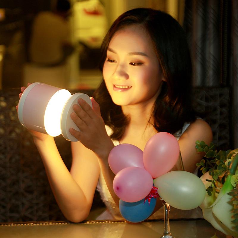 ✅✅✅迷你LED创意充电小夜灯插电卧室床头台灯喂奶婴儿夜光睡眠