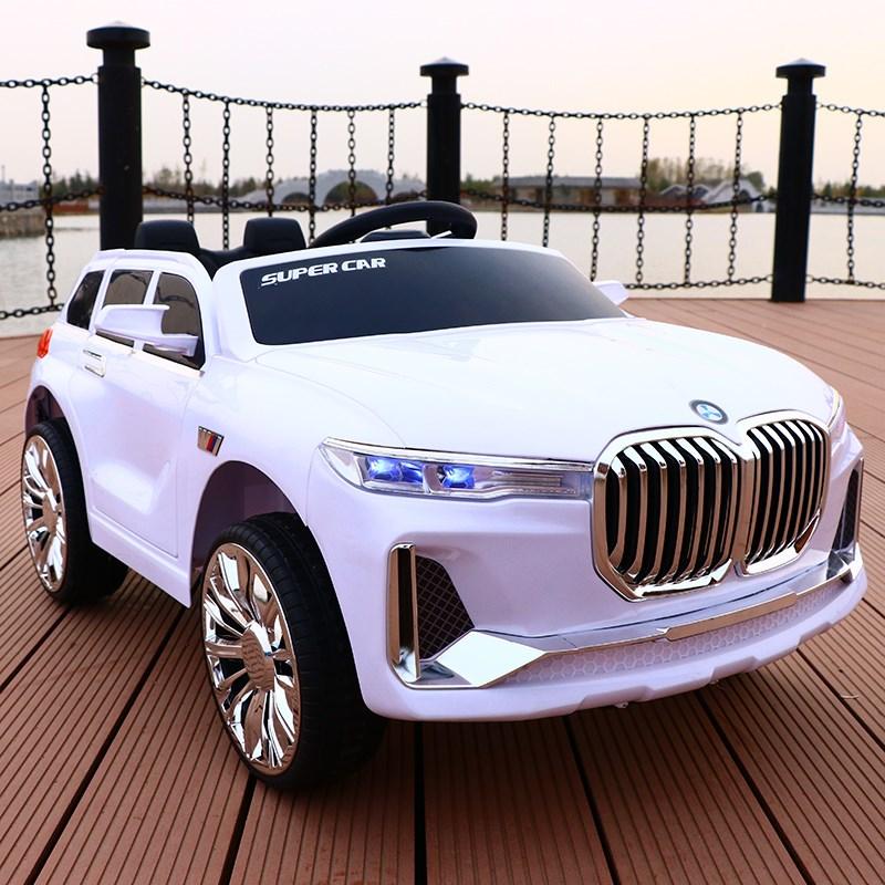 高檔雙人座車遙感小孩寶寶四輪車可坐人電動汽車玩具遙控寶馬兒童
