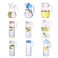 Le Meiya glass jug pot pot glass pot tea cup warm water large capacity transparent cold water bottle home set