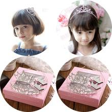 韩版儿童头饰礼盒套装王冠水钻皇冠发箍女童宝宝发夹公主发梳发饰